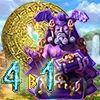 Топовая мини игра - Сокровища Монтесумы. 4 в 1